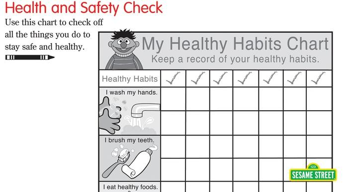 Health and Safety Printable Checklist | Sesame Street