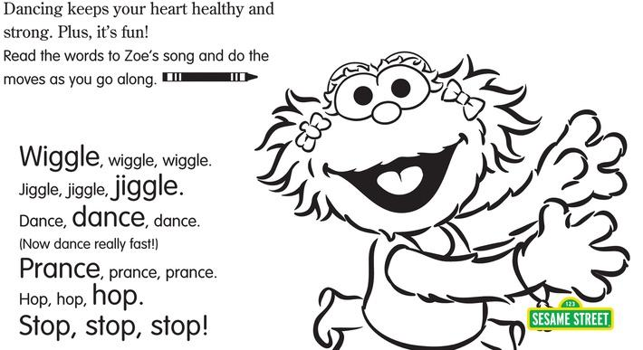 The Heart Dance Printable | Sesame Street