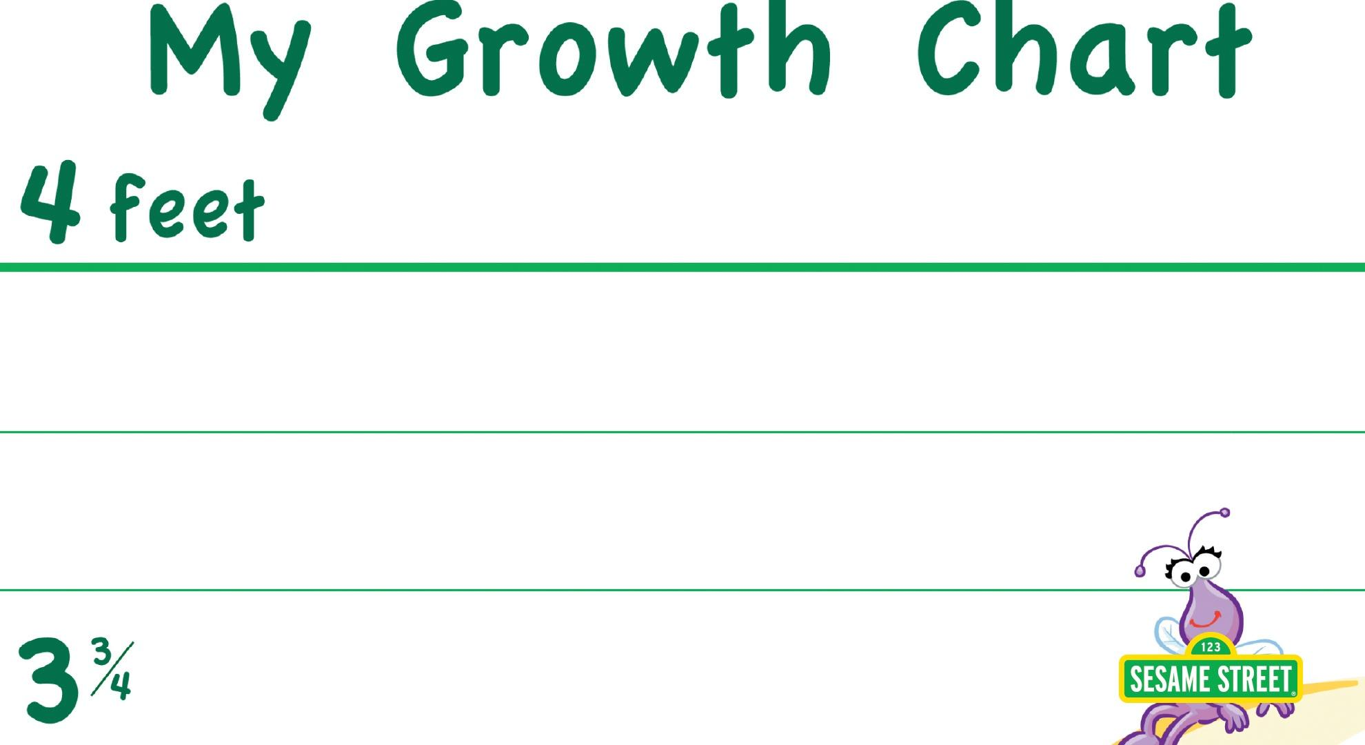 graphic about Printable Growth Charts referred to as My Improvement Chart Printable Sesame Road PBS LearningMedia