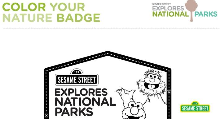 National Parks Color Your Nature Badge Printable | Sesame Street