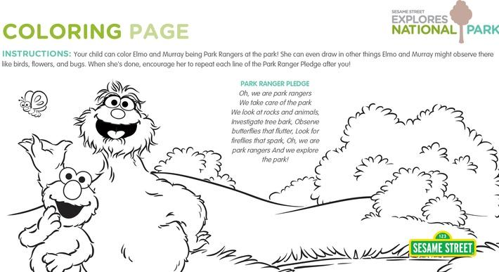 national parks coloring page printable sesame street