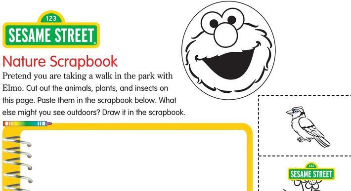 Printable Nature Scrapbook | Sesame Street