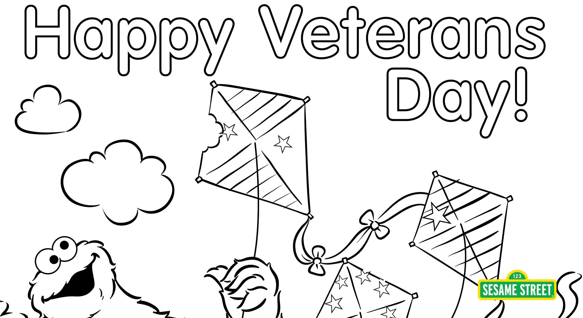 image about Veterans Day Coloring Pages Printable identify Veterans Working day Coloring Web page Printable Sesame Highway PBS