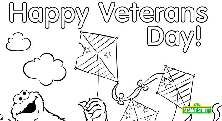 Veterans Day Coloring Page Printable Sesame Street Preschool
