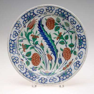 Iznik Dish with Floral Design / RISD STEAM