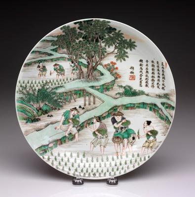 Plate with Scenes from the Gengzhitu / RISD STEAM