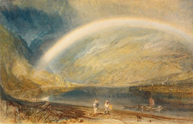 Rainbow: A View on the Rhine from Dunkholder Vinyard, of Ostersprey and Feltzen below Bosnart / RISD STEAM