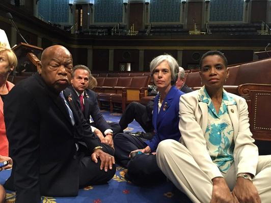 Democrats Sit-In on House Floor to Push for Gun Reform – Video