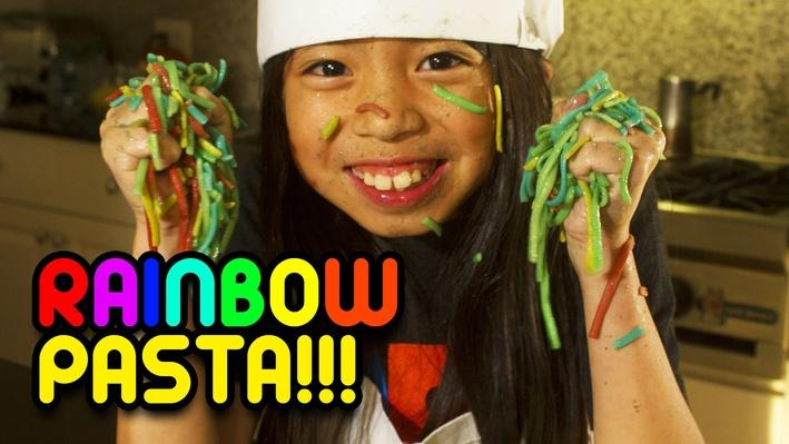 How to Make Rainbow Pasta | Full-Time Kid