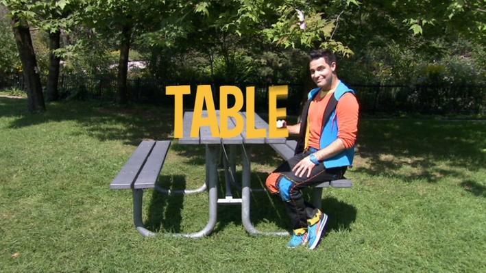 Table | Lecture de mots au parc