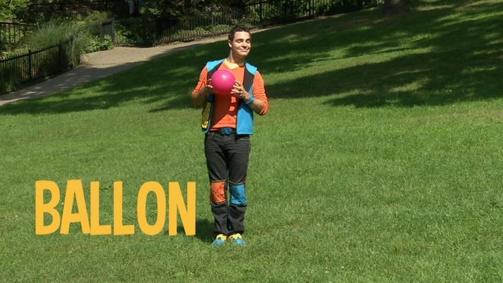 Ballon | Lecture de mots au parc