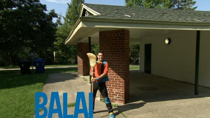 Balai | Lecture de mots au parc