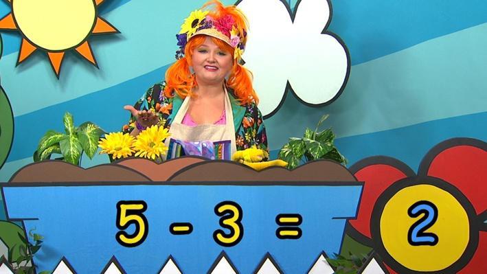 Cinq moins trois | Combien de fleurs Fleurette?