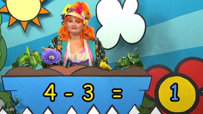 Quatre moins trois | Combien de fleurs Fleurette?