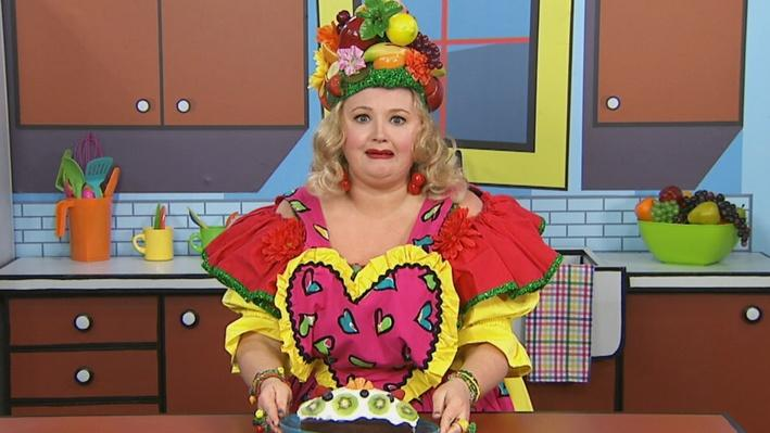 Déguster | Mme Fruitée fait un gâteau