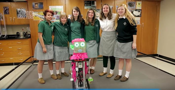 Saint Gertrude High School All-Girls Robotics Team Builds Robot to Travel the World | Science Matters