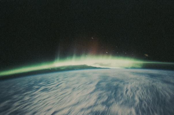 Satellite Image of Northern Lights on the Horizon | Earth and Space