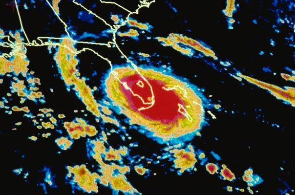 Satellite Image of Hurricane Andrew | Natural Disasters: Hurricanes, Tsunamis, Earthquakes