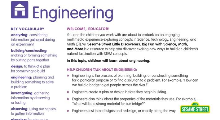 Engineering Educator Guide | Sesame Street