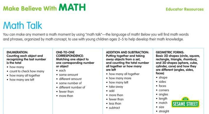 Math Talk | Sesame Street