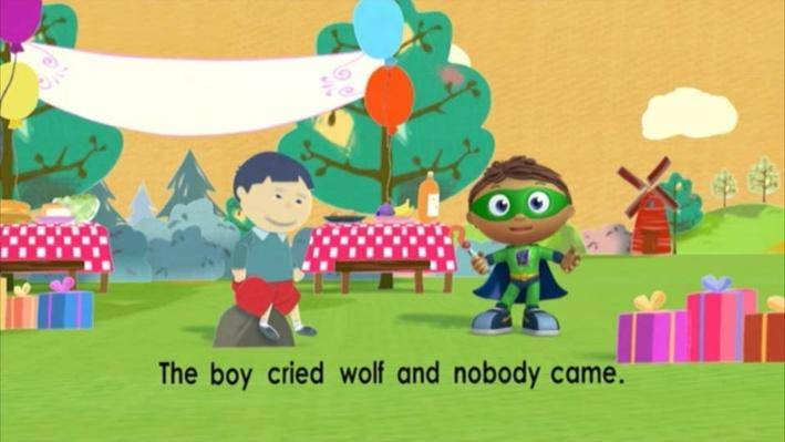 Super Why: The Boy Who Cried Wolf | Crying Wolf