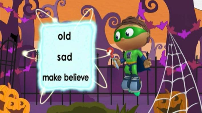 Super Why: The Ghost Who Was Afraid of Halloween | Make-believe