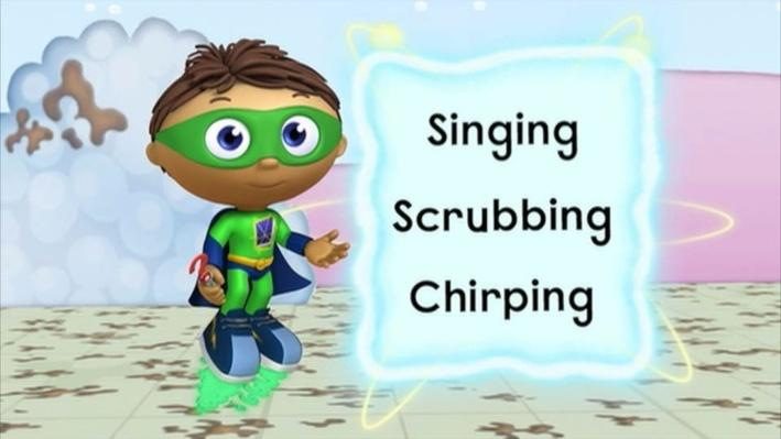 Super Why: Webby in Bathland | Squeaky Clean