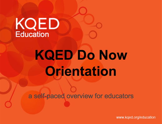 Teach Civic Engagement Using Social Media with KQED Do Now :  Online PD Module