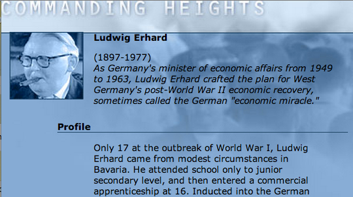 Economic Architect: Ludwig Erhard