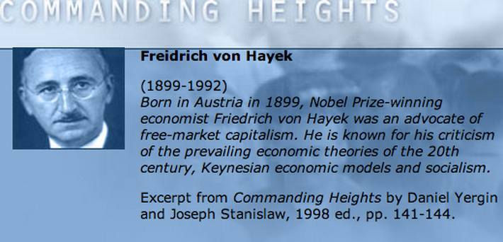 Economic Architect: Friedrich Von Hayek