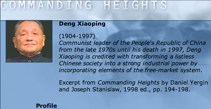 Economic Architect: Deng Xiaoping