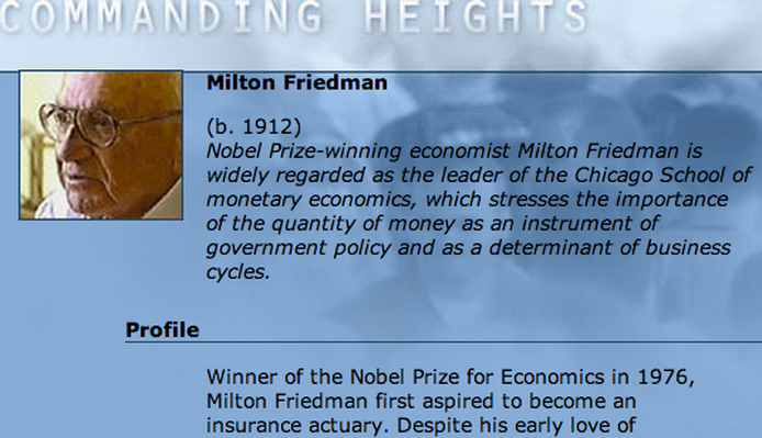 Economic Architect: Milton Friedman