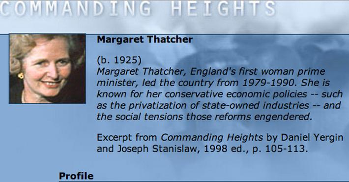 Economic Architect: Margaret Thatcher