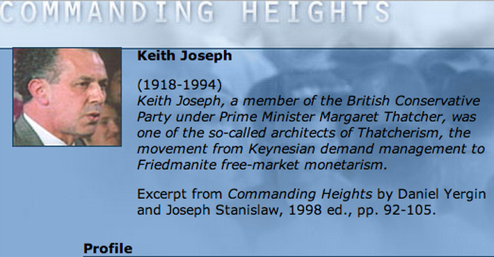 Economic Architect: Keith Joseph