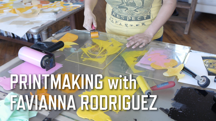 Printmaking with Favianna Rodriguez