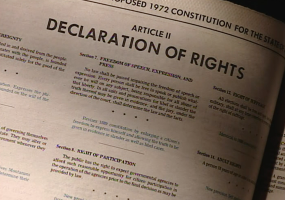 Montana's Declaration of Rights | The Montana Constitutional Convention