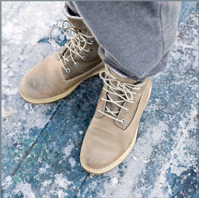 How do winter boots stack up against a slippery surface?
