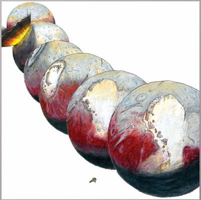 How do volatile ices affect Pluto's axis?