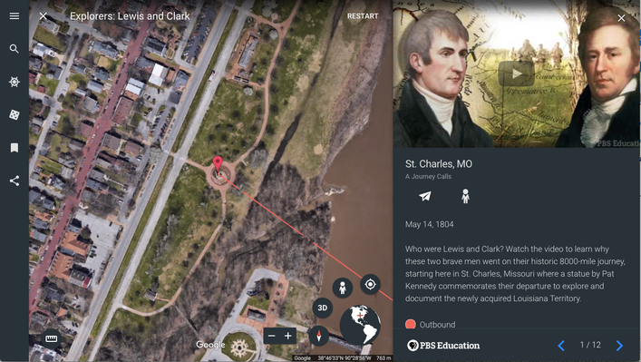 Explorers: Lewis and Clark | Google Earth Voyager Stories