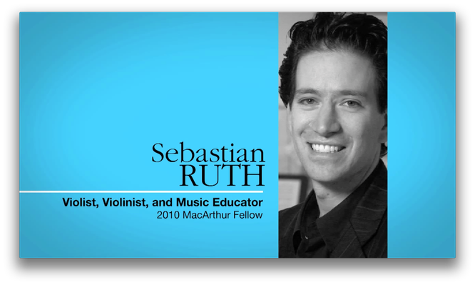 Sebastian Ruth, Musician and Music Educator | MacArthur Fellows Program