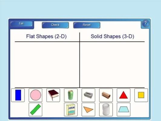 Sort 2-D and 3-D | Interactive SMART Board Activity