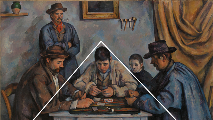 The Card Players, with triangle