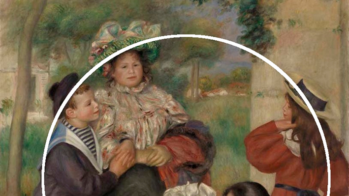 The Artist's Family, with circle