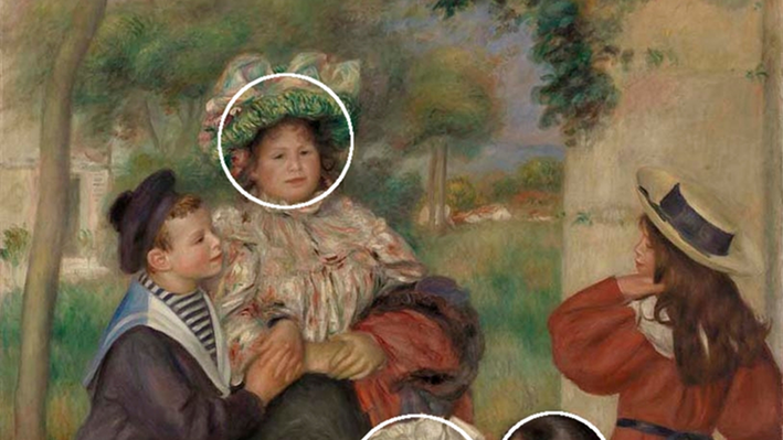 The Artist's Family, with small circles
