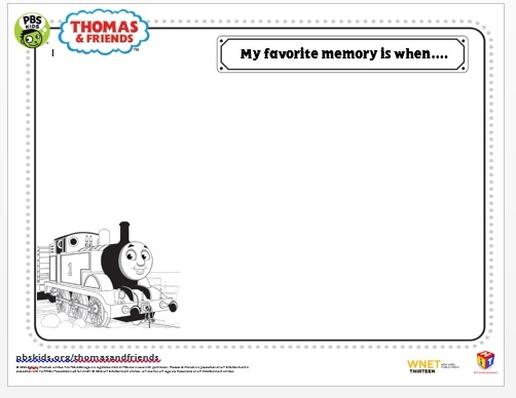 Memories Activity Sheet | Thomas & Friends