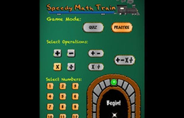 Speedy Math Train | STEM Video Game Challenge