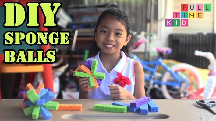 DIY Sponge Balls | Full-Time Kid