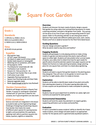 Square Foot Garden | Project Learning Garden