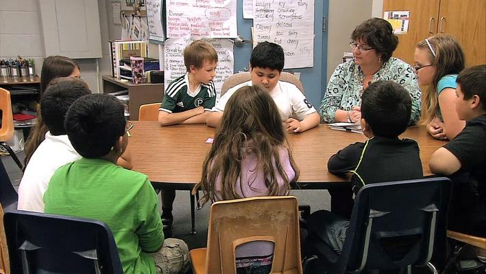 DELit_wri05_MU_peerconferences_edit_01_Using a Communication Device to Participate in a Small Group Discussion: Part 2 | English Language Arts Strategies for Students with Disabilities