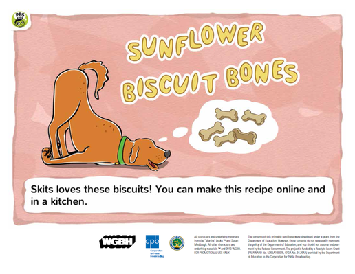 Sunflower Bone Biscuits | Martha Speaks - pdf